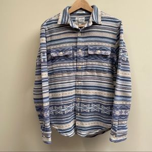 NWT Lucky Brand Blue Striped Shirt Jacket Size S